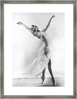 A Ballet Dancer Framed Print by Underwood Archives