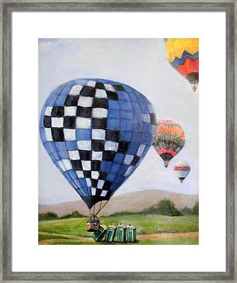 A Balloon Disaster Framed Print