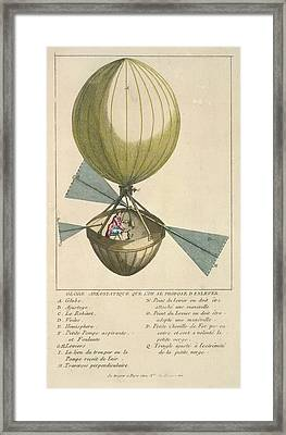A Balloon With Oars Framed Print