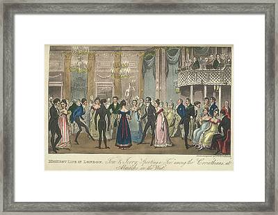 A Ballroom Framed Print by British Library