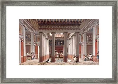 A Banquet In Ancient Greece Framed Print by Nordmann