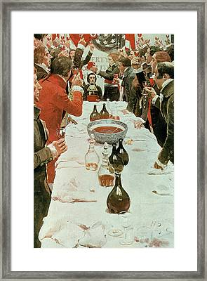 A Banquet To Genet, Illustration From Washington And The French Craze Of 93 By John Bach Mcmaster Framed Print