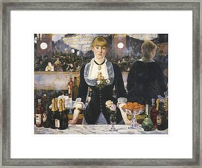 A Bar At The Folies-bergere Framed Print