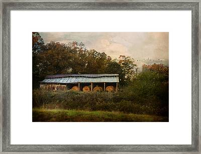 A Barn For The Hay Framed Print