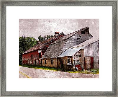 A Barn With Many Purposes Framed Print by Marcia Lee Jones