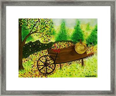 A Barrel Full Of Fun Framed Print by Celeste Manning