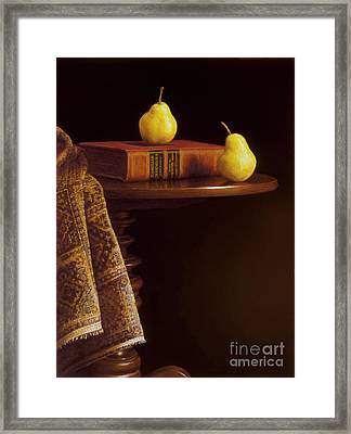 A Bartlett Of A Different Kind Framed Print by Barbara Groff