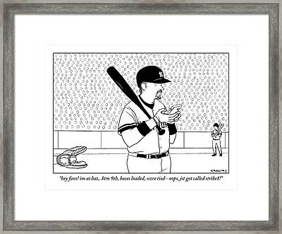 A Baseball Player Yankees Twitters Framed Print by Alex Gregory