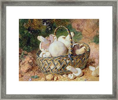 A Basket Of Mushrooms, 1871 Framed Print