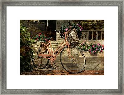 A Basketful Of Spring Framed Print