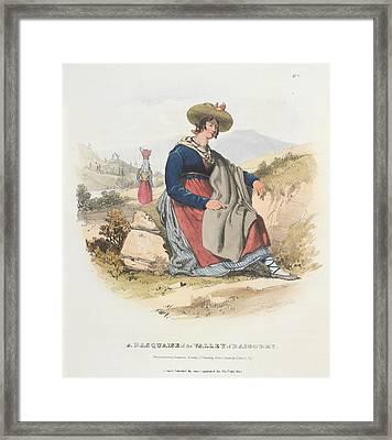 A Basquaise Framed Print