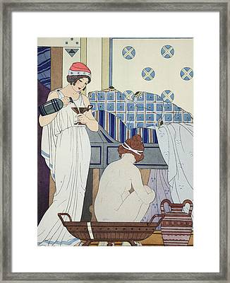 A Bath Seat Framed Print