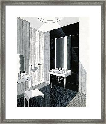 A Bathroom For Kohler By Ely Jaques Kahn Framed Print by Urban Weis