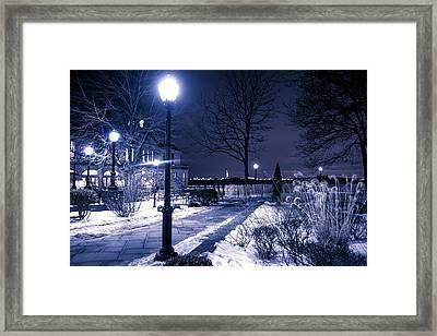 A Battery Park Winter Framed Print