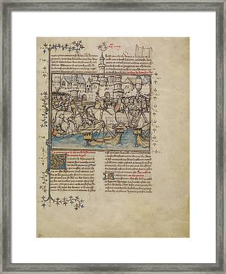 A Battle From The Trojan War First Master Of The Bible Framed Print
