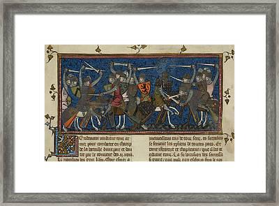 A Battle Scene Framed Print