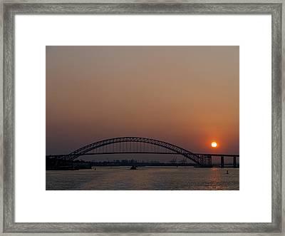 A Bayonne Sunset Framed Print