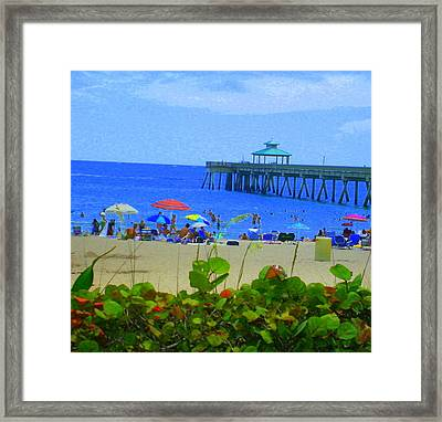Framed Print featuring the photograph A Beach Day by Artists With Autism Inc