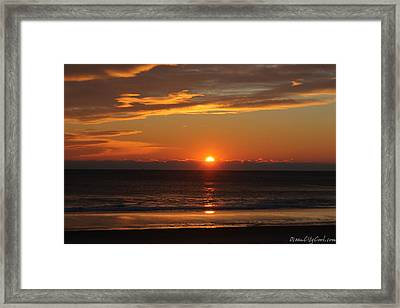 A Beach Life Sunrise Framed Print