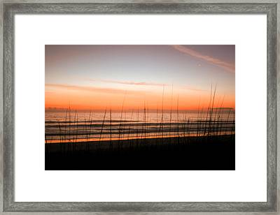 A Beachwork Orange Framed Print