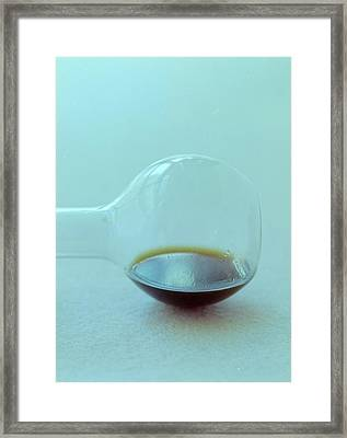 A Beaker With Vinegar Framed Print