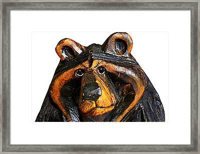 A Bear Expression Framed Print
