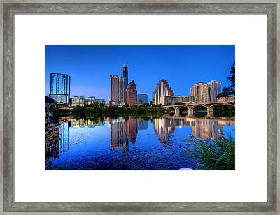 Framed Print featuring the photograph A Beautiful Austin Evening by Dave Files