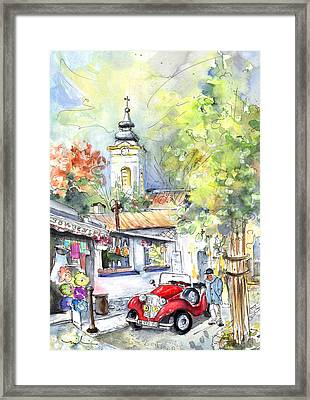 A Beautiful Car In Szentendre Framed Print by Miki De Goodaboom