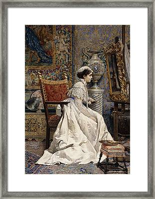 A Beautiful Connoisseur Framed Print by Tomas Moragas y Torras
