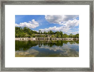 A Beautiful Day At Klondike Lake Framed Print by Bill Tiepelman