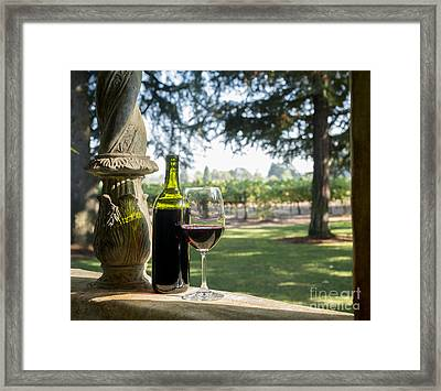 A Beautiful Day In Napa Framed Print