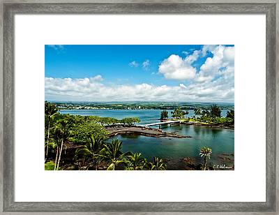 A Beautiful Day Over Hilo Bay Framed Print by Christopher Holmes