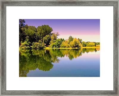 A Beautiful Day Reflected Framed Print by Joyce Dickens