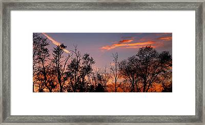Framed Print featuring the photograph A Beautiful Ending by Candice Trimble