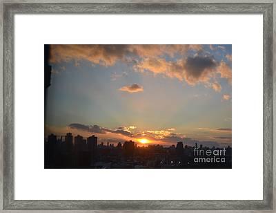 A Beautiful Evening Framed Print