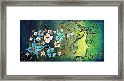 A Beautiful Mind Framed Print by Shadia Derbyshire