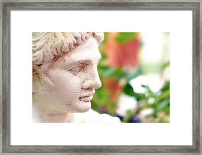 A Beautiful Statue Looking Sideways  Framed Print by Tommytechno Sweden
