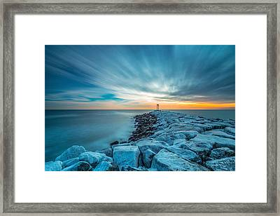A Beautiful Sunrise At The Old Scituate Lighthouse Framed Print