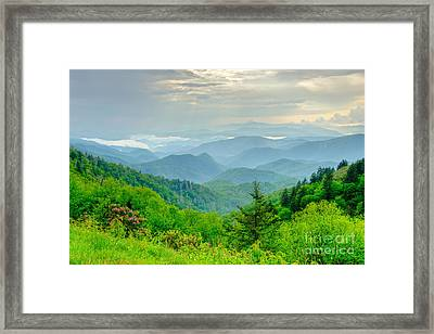 A Beautiful View Framed Print by Bob and Nancy Kendrick