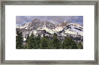 A Beautiful View Of Mount Ogden From Snowbasin 2/1 Pano Framed Print