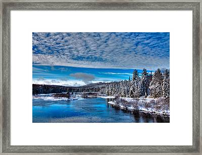 A Beautiful Winter Day At The Green Bridge Framed Print by David Patterson