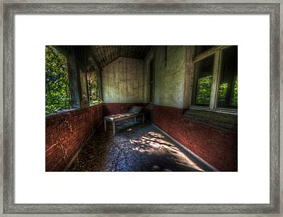 A Bed Outside Framed Print by Nathan Wright