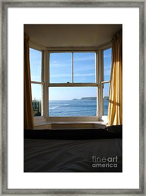 A Bed With A View Framed Print by Terri Waters