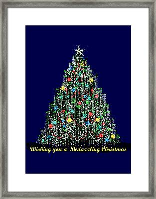 A Bedazzling Christmas Framed Print