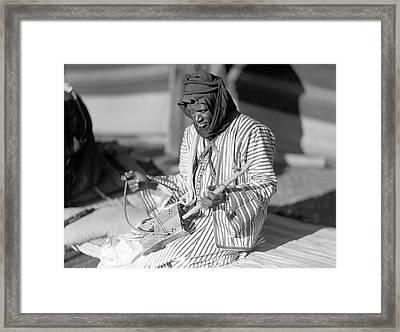 A Bedouin Negro Minstrel Framed Print