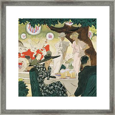 A Beer-garden Framed Print by Jean Pag?s