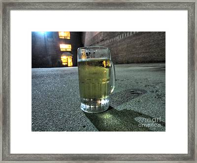 A Beer Mug In An Alley  Framed Print