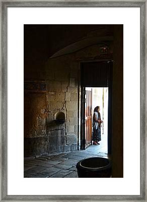 A Beggar At The Door Of A Church Framed Print by RicardMN Photography