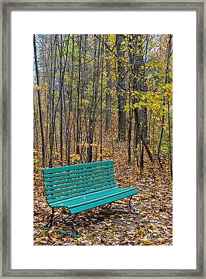 A Bench Nowhere... Framed Print