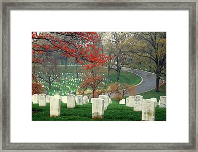 A Bend In The Road Framed Print by Jame Hayes
